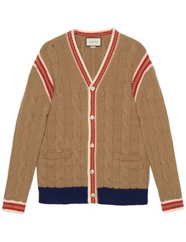 Cable Knit Wool Cardigan by Gucci
