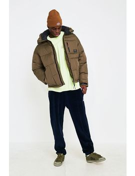 Uo Khaki Tech Puffer Jacket by Urban Outfitters