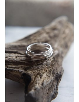 Thin Silver Stackable Rings, Eco Silver Dainty Ring Minimalist Simple Silver Band by Etsy