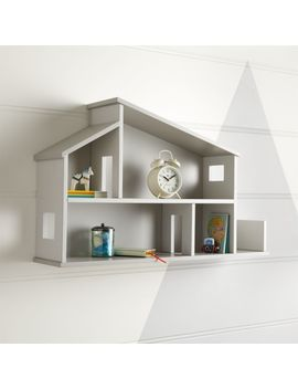 Wooden House Shelf by Crate&Barrel
