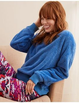 Aerie Fuzzy Crew Sweatshirt by American Eagle Outfitters