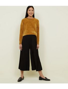 Cameo Rose Black Pleated Culottes by New Look
