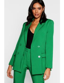 Tailored Double Breasted Blazer by Boohoo