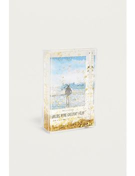 Gold Instax Mini Glitter Picture Frame by Urban Outfitters