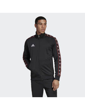 Tan Tape Clubhouse Jacket by Adidas