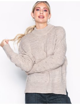 Pcfay Ls Wool Knit Bf by Pieces