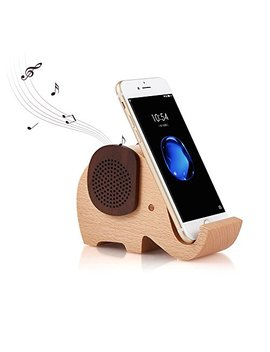 Artinova Wooden Portable Wireless Bluetooth Speaker With Cell Phone Stand Holder For Desktop (Elephant Shape) Arta 0031 by Artinova