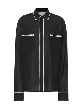 Piped Cotton Shirt by Haider Ackermann