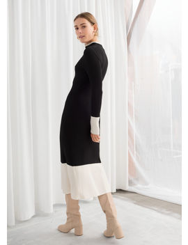 Ribbed Turtleneck Midi Dress by & Other Stories