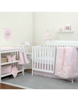 No Jo® Dreamer Floral Crib Bedding Collection In Pink/Grey by No Jo