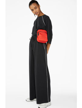 Super Soft Trousers With Contrast Piping by Monki