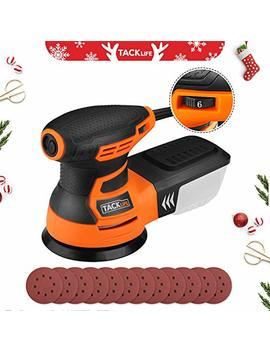 Random Orbit Sander, Tacklife 5 Inch 6 Variable Speed 3.0 A/13000 Rpm Sander With 12 Pcs Sandpapers, High Performance Dust Collection System, 9.84 Ft(3 M) Power Cord, Ideal For Diy, Decoration   Prs01 A by Tacklife