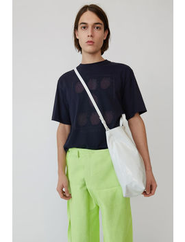 Printed T Shirt Navy Blue by Acne Studios