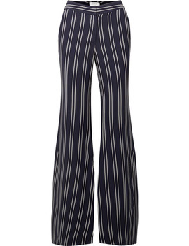 Striped Crepe Flared Pants by La Ligne
