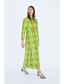 Limited Edition Sequin Plaid Dress  Momwoman Corner Shops by Zara