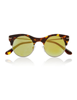 Max Round Frame Acetate And Metal Mirrored Sunglasses by Roland Mouret