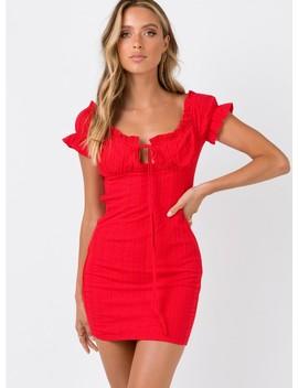 The Kipp Mini Dress Red by Princess Polly