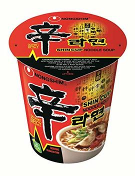 Nong Shim Shin Cup Noodle Soup, Gourmet Spicy, 2.64 Ounce (Pack Of 12) by Nong Shim