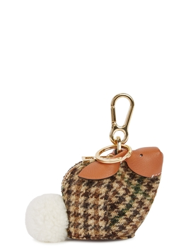 Bunny Checked Tweed Coin Purse by Loewe