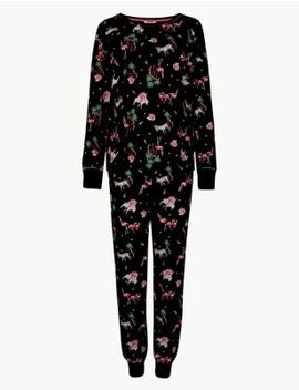 Cotton Rich Safari Print Pyjama Set by Marks & Spencer