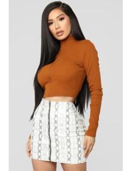 Reminds Me Of You Ii Top   Terracotta by Fashion Nova