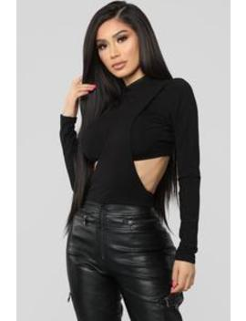 Tired Of You Top   Black by Fashion Nova