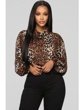 Misbehave Turtle Neck   Leopard by Fashion Nova
