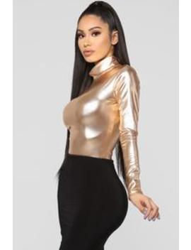 Trust You Better Bodysuit   Rose Gold by Fashion Nova