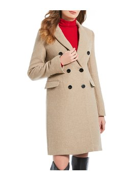 Double Breasted Wool Blend Tailor Coat by A Loves A