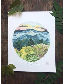 Blue Ridge Mountains 8x10 Print by Etsy