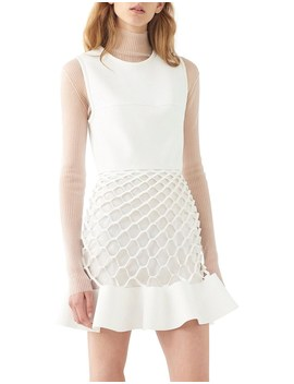 Honeycomb Ruffle Mini Dress by Dion Lee