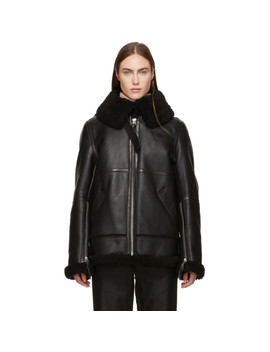Back Shearling Aviator Jacket by Acne Studios