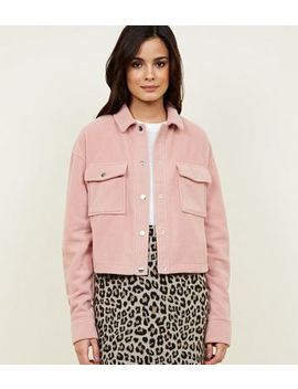 Pink Fleece Utility Jacket by New Look