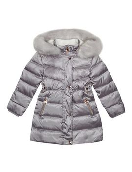 Baker By Ted Baker   Girl S Silver Padded Down Shower Resistant Coat by Baker By Ted Baker
