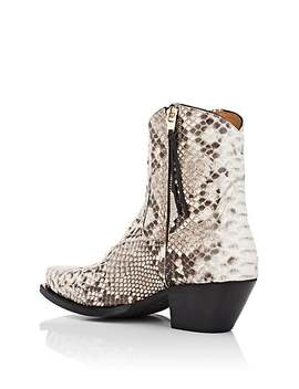 Snakeskin Cowboy Boots by R13