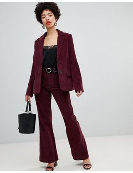 Warehouse Cord Blazer In Berry by Warehouse