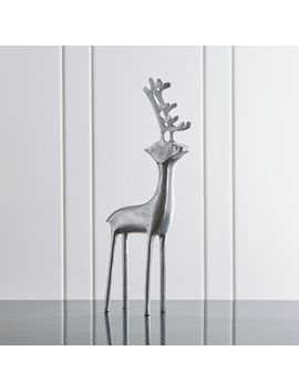 "25"" Silver Reindeer by Crate&Barrel"