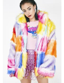Buttercream Dream Furry Coat by J Valentine