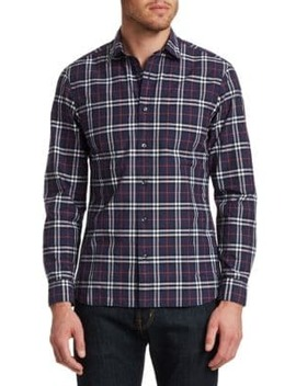 Alexander Check Button Down Shirt by Burberry