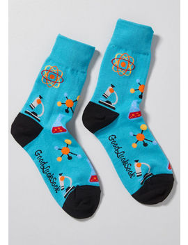 Science Is Golden Socks by Modcloth