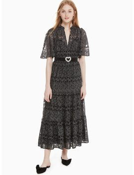 Metallic Embroidery Midi Dress by Kate Spade