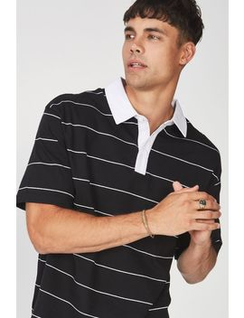 Oversized Short Sleeve Polo by Cotton On