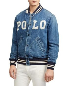 Varsity Inspired Denim Jacket by Polo Ralph Lauren