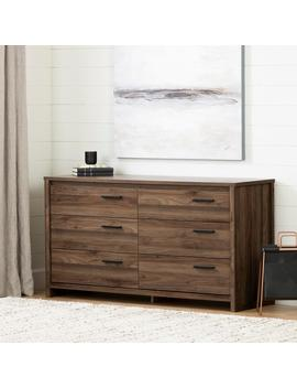 Tao 6  Drawer Natural Walnut Dresser by South Shore