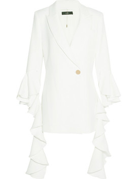Ruffled Crepe Blazer by Ellery