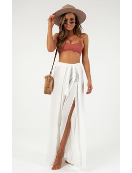 Lovers Island Pants In White by Showpo Fashion