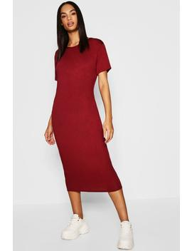 Tall Short Sleeve Midi Dress by Boohoo