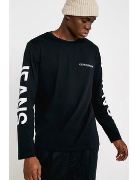 Calvin Klein Jeans Institutional Logo Back Print Black Long Sleeve T Shirt by Calvin Klein Jeans