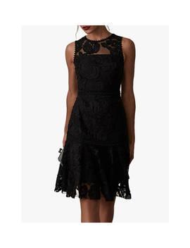 Reiss Adia Lace Panel Dress, Black by Reiss