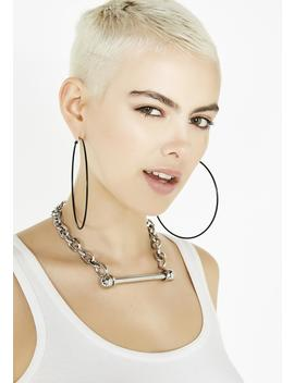 Burst Of Fire Hoop Earring Set by Ana Accessories
